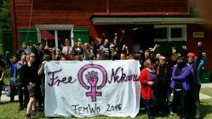 Transpi am Feministischen Wochenende 2016 im Möslihaus